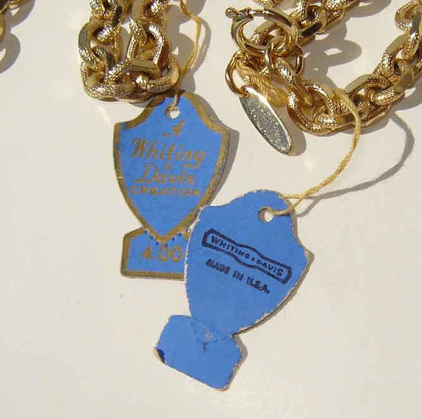 Vintage Whiting & Davis Paper Tag