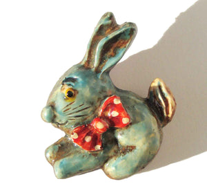 Vintage Bunny Rabbit Brooch - West Germany
