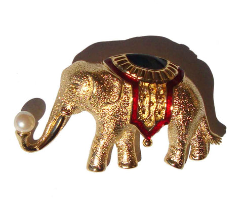 Vintage Monet Elephant Brooch
