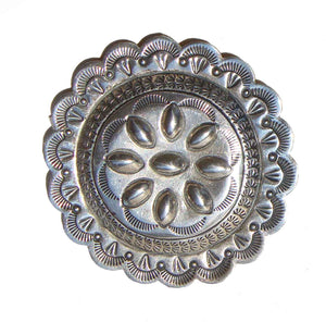 Vintage Sterling Indian Concha Brooch