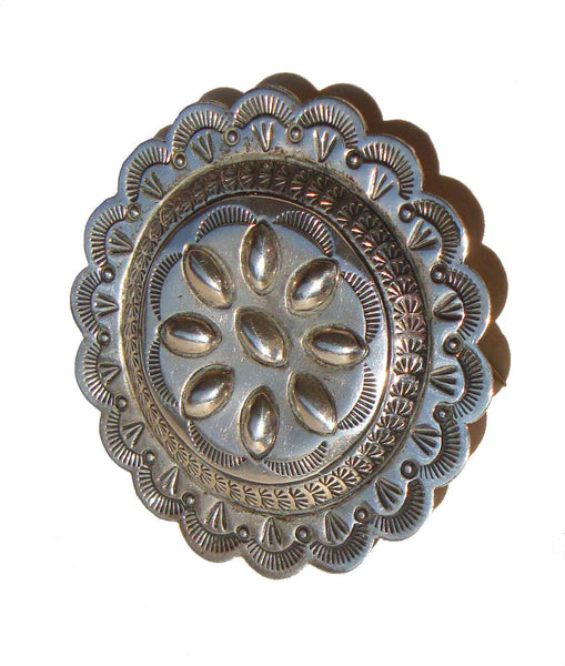 Native American Sterling Concha Pin