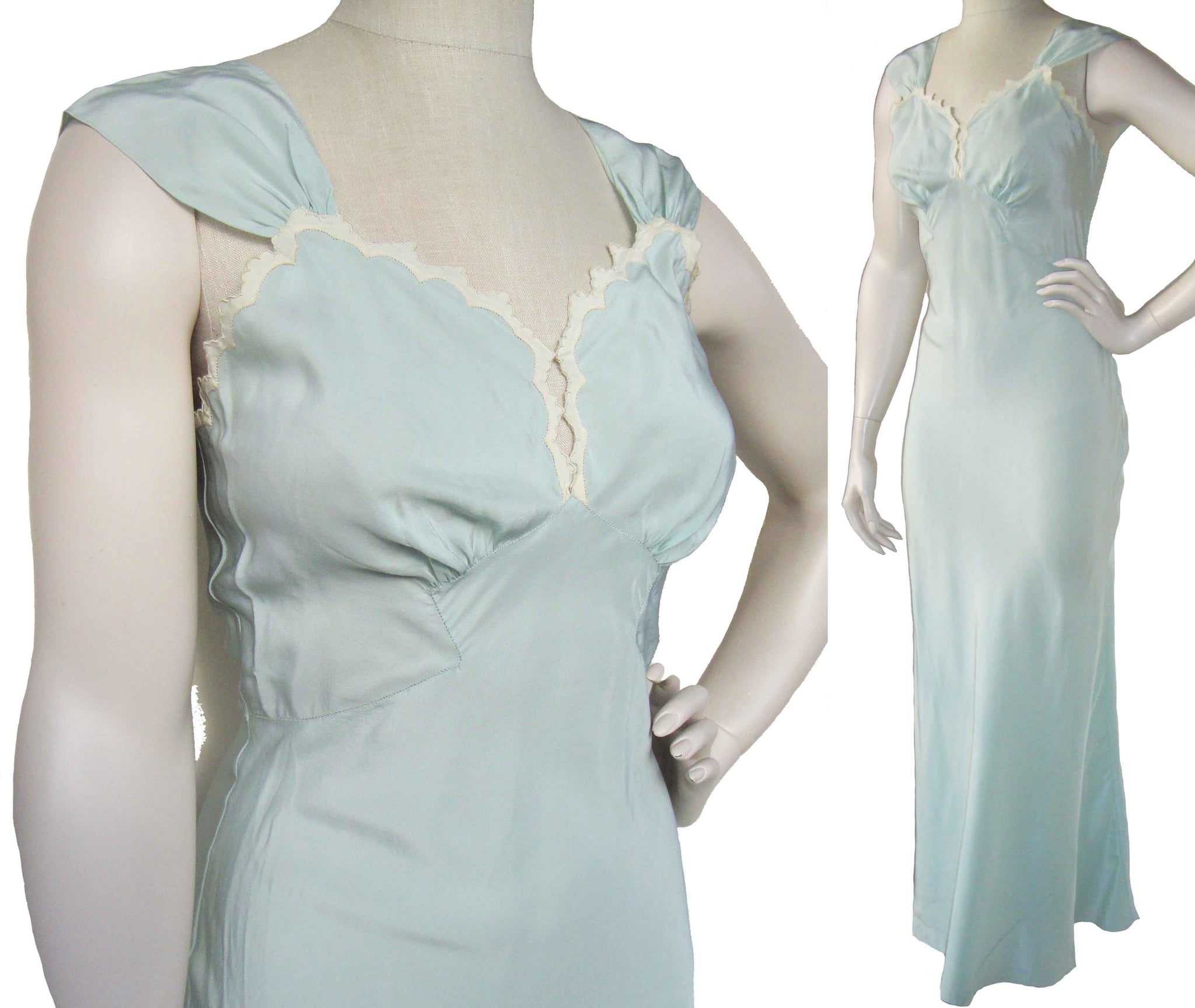 1940s Silk Nightgown Lingerie