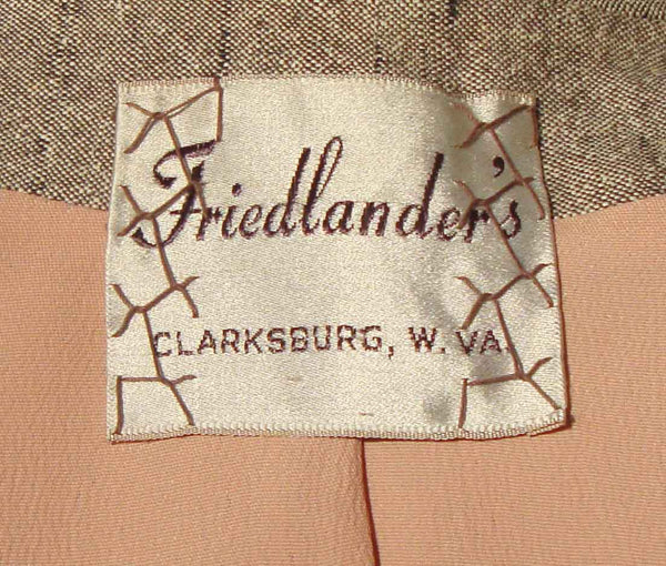 Vintage 50s Suit Label
