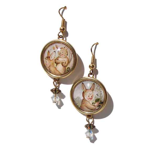 Vintage Bunny Earrings – Designs from the Deep DftD