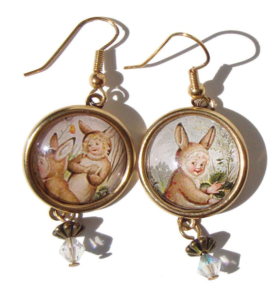 Retro Easter Earrings - Designs from the Deep