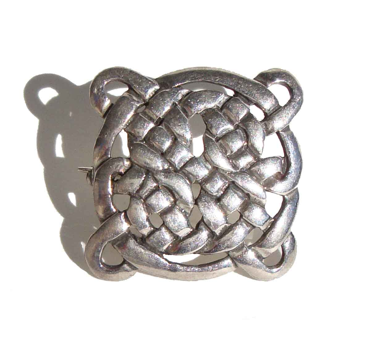 Vintage Celtic Knot Sterling Brooch