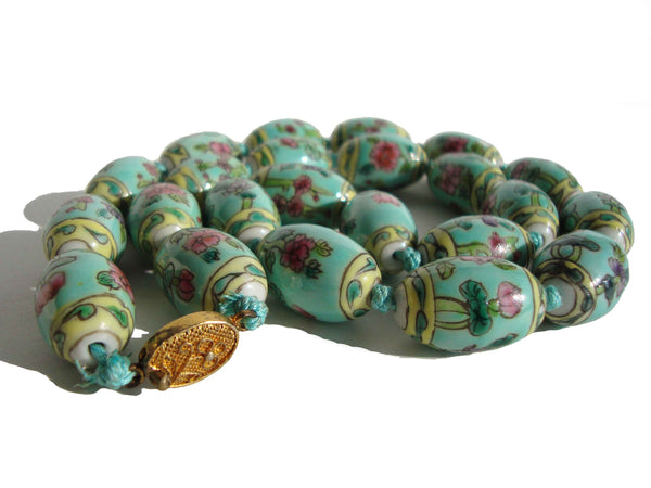 40s Chinese Export Turquoise Beads