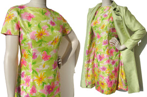 Vintage 60s Dress & Spring Coat Set