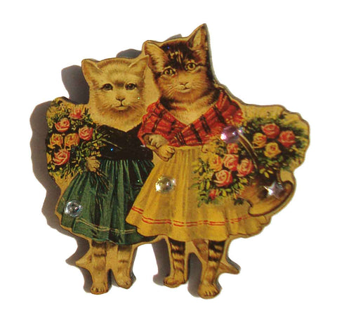 Victorian Cat Brooch Designs from the Deep by metroretrovintage.com