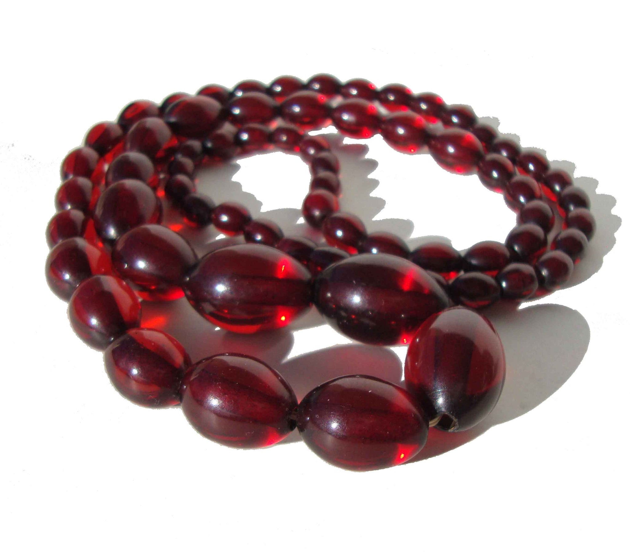 Vintage Cherry Amber Necklace