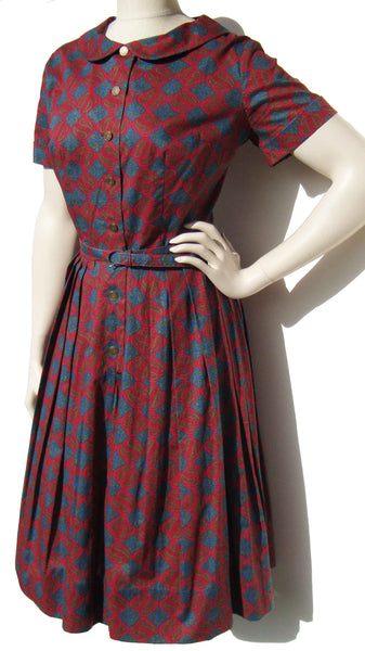 Vintage 60s Shirtwaist Dress
