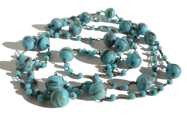 Czech Flapper Beads - Metro Retro Vintage