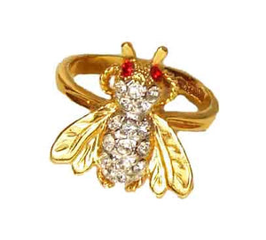 Vintage Rhinestone Fly Ring