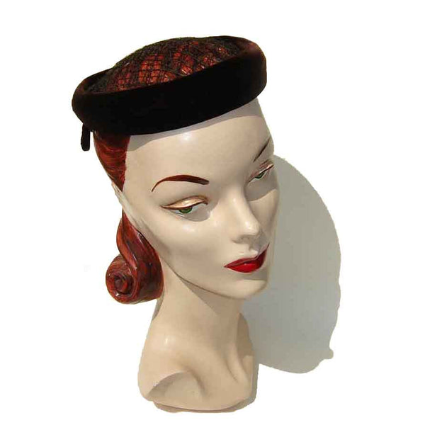 50s Ladies Cocktail Hat by Bertha