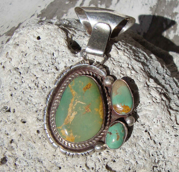 Josephine Benally Turquoise Sterling Silver Pendant