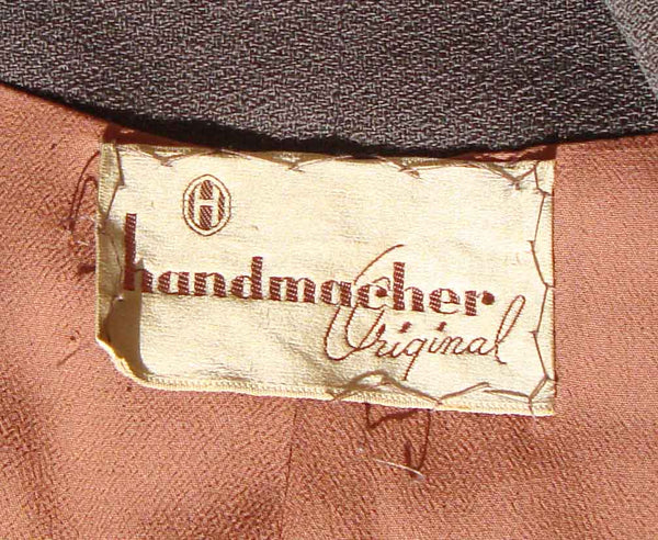 Vintage 50s Handmacher Label