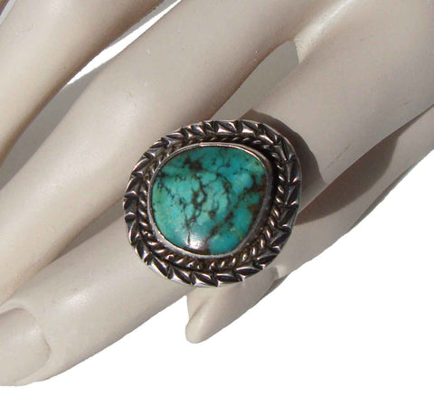 Vintage Navajo Sterling & Turquoise Ring