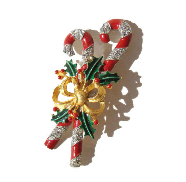 Weiss Candy Cane Brooch