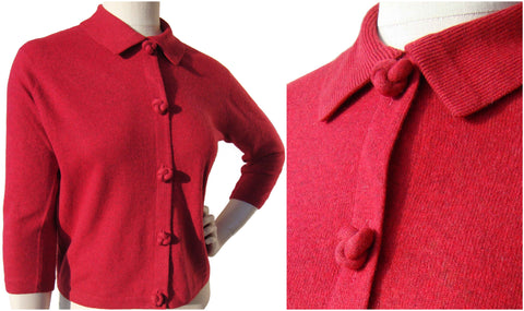 Vintage 50s Red Cashmere Sweater