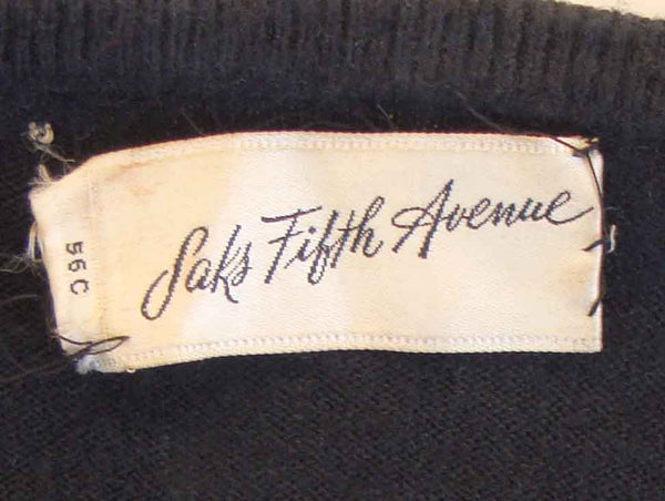Vintage Saks Label on Sweater