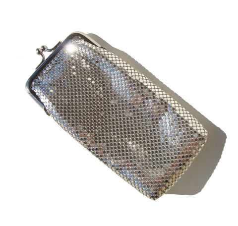 Vintage Whiting & Davis International Silver Mesh Eyeglass Cigarette Purse – Deadstock