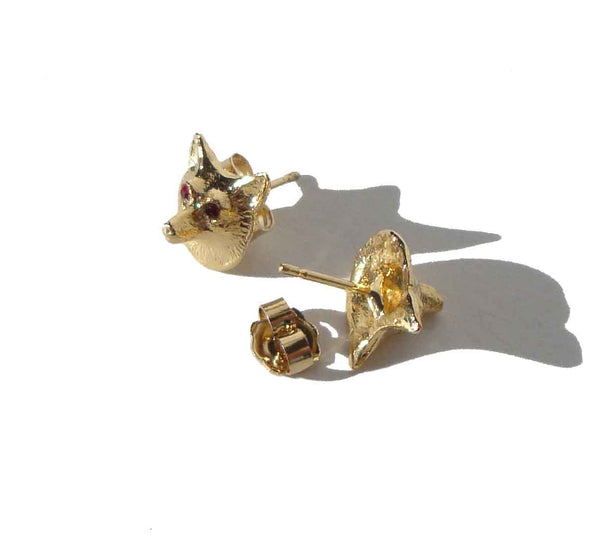 Fox Novelty Earrings - Metro Retro Vintage