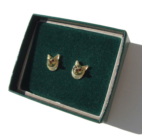 Vintage Fox Stud Earrings