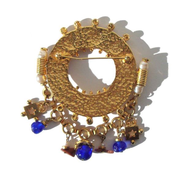 Back of Etruscan Revival Brooch