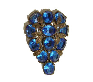 Vintage Bohemian Blue Glass Dress Clip