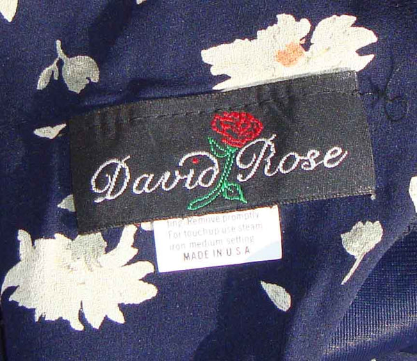 Vintage David Rose Dress Label