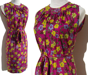 Mod 60s Flower Dress
