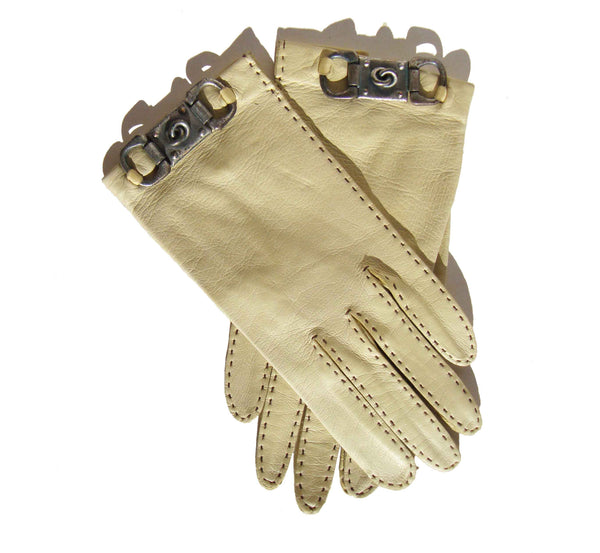 Vintage Ladies Yellow Gloves