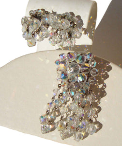 Vintage Beaded Crystal Demi Parure