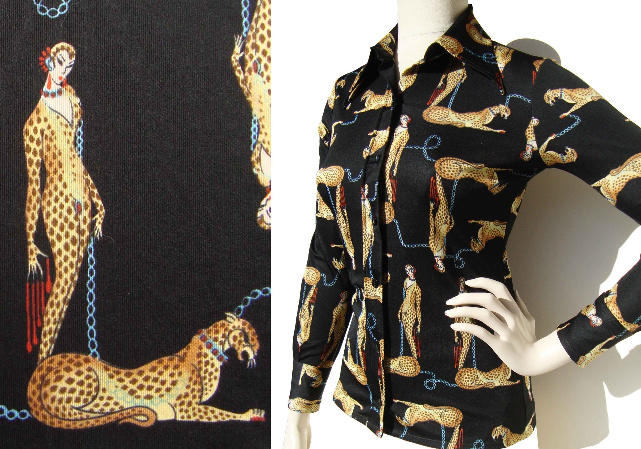 Erte Leopard Woman Blouse Shirt