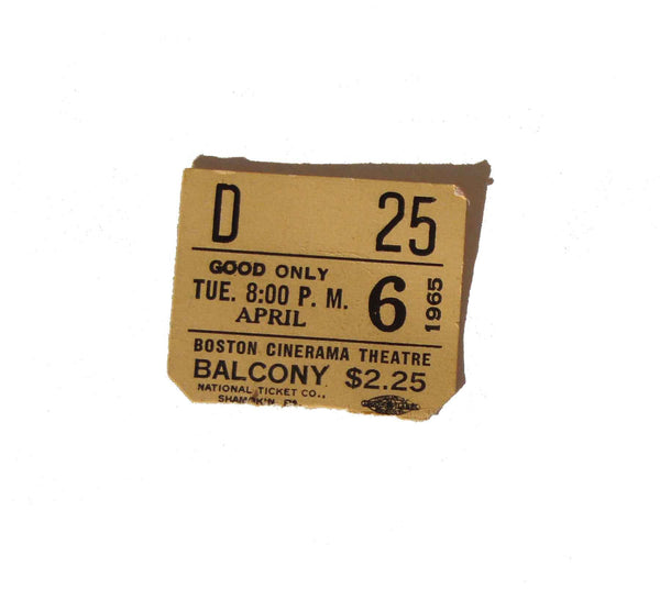 1965 Theater Ticket Stub