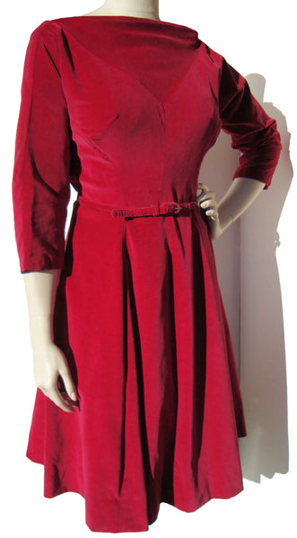 1950s Red Dress - Metro Retro Vintage