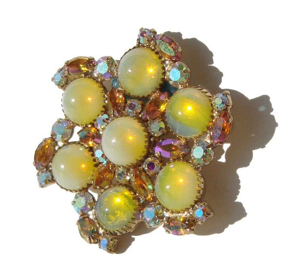 Vintage D&E Juliana Cocktail Brooch - Metro Retro Vintage