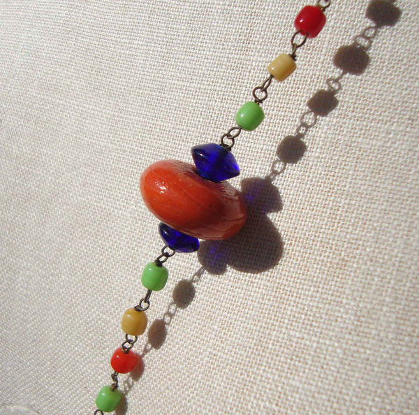 Bohemian Lampwork Beaded Necklace