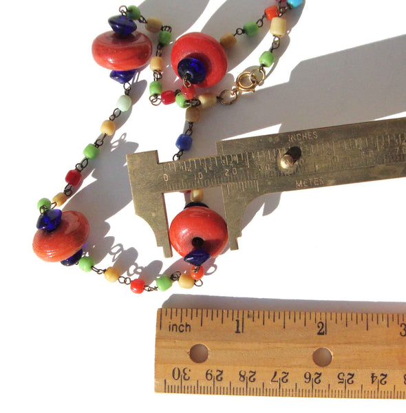 Vintage Art Deco Flapper Glass Bead Necklace