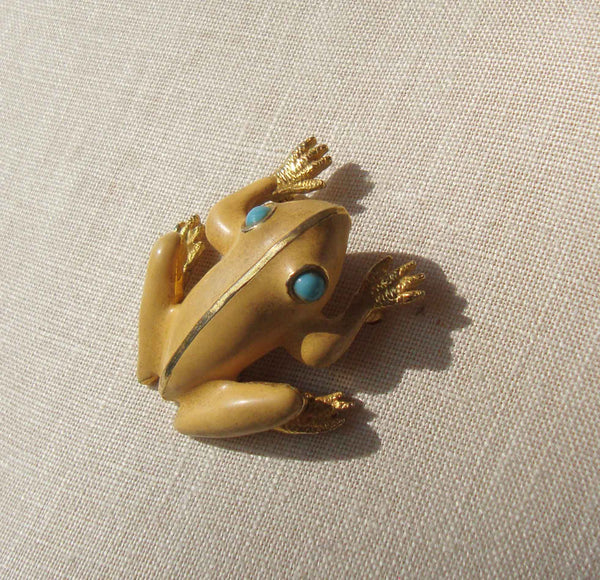 Vintage Frog Novelty Brooch