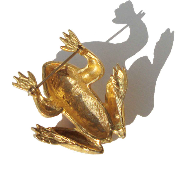 60s Frog Brooch Pin