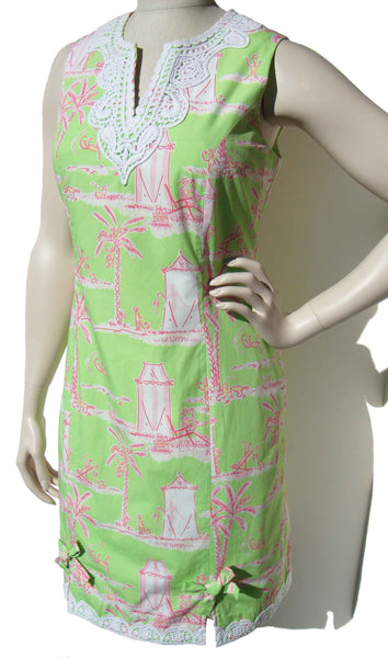 Vintage Lilly Pulitzer Dress Cabana Banana Cotton Shift M