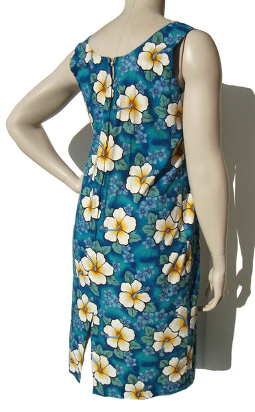 Vintage Hawaiian Hibiscus Dress