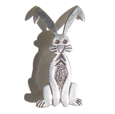 Vintage Navajo Rabbit Brooch by Allison Snowhawk Lee