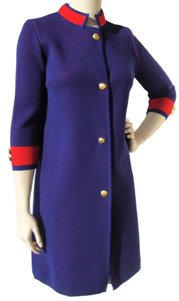 Vintage Italian Dress Blue & Red