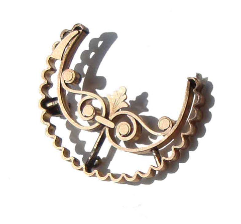 Antique Victorian Crescent Moon Brooch Pin