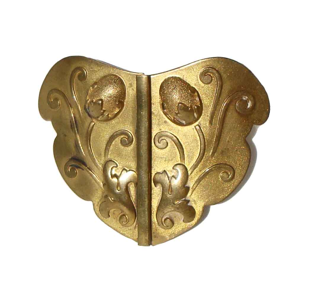 Antique Art Nouveau Buckle Floral 2-Piece