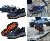 Men's Safety Shoes Steel Toe Fashion Work Boots Breathable Hiking Climbing
