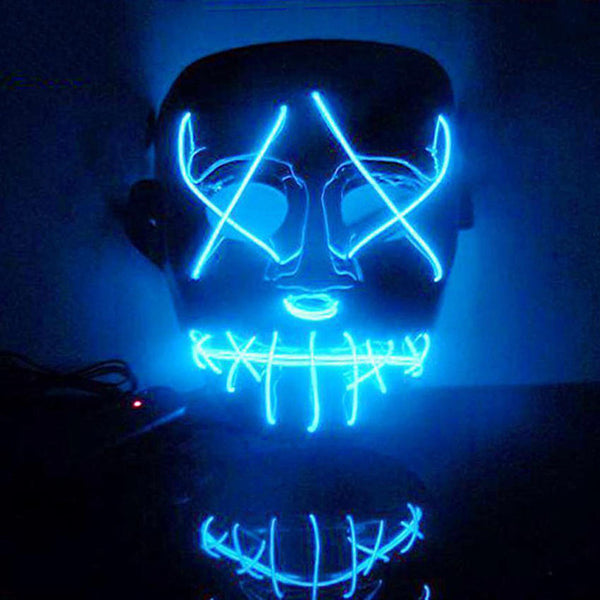 Cosplay Halloween coustume Mask Led Light Purge Party