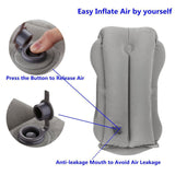 Inflatable Travel Pillow for Face and Neck